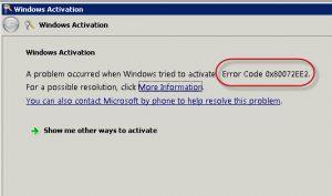 0x80072ee7 Error Code