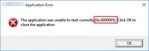 0xc0000005 error