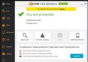 Antivirus setting