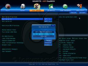 BIOS UEFI update