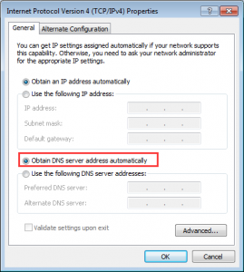 DNS Address Could Not Be Found