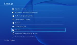 Deleting themes on PS4