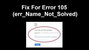 Error 105