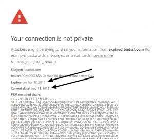 Your Connection Is Not Secure Error