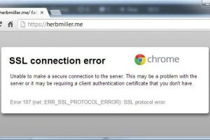 Err SSL protocol error google chrome how to fix