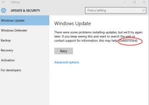 Error 0x800705b4 on Windows Update