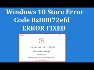 Error 0x80072efd on Windows 10 Store How to Fix