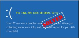 Fix IRQL NOT LESS OR EQUAL error on Windows 10
