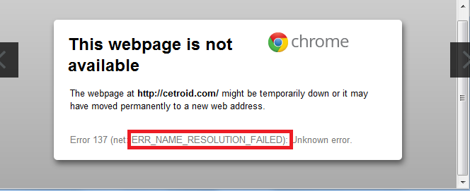 How to Fix ERR_NAME_RESOLUTION_FAILED Error in Chrome