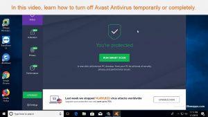 How to disable avast Free antivirus