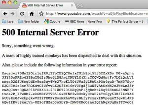 YouTube 500 server internal error