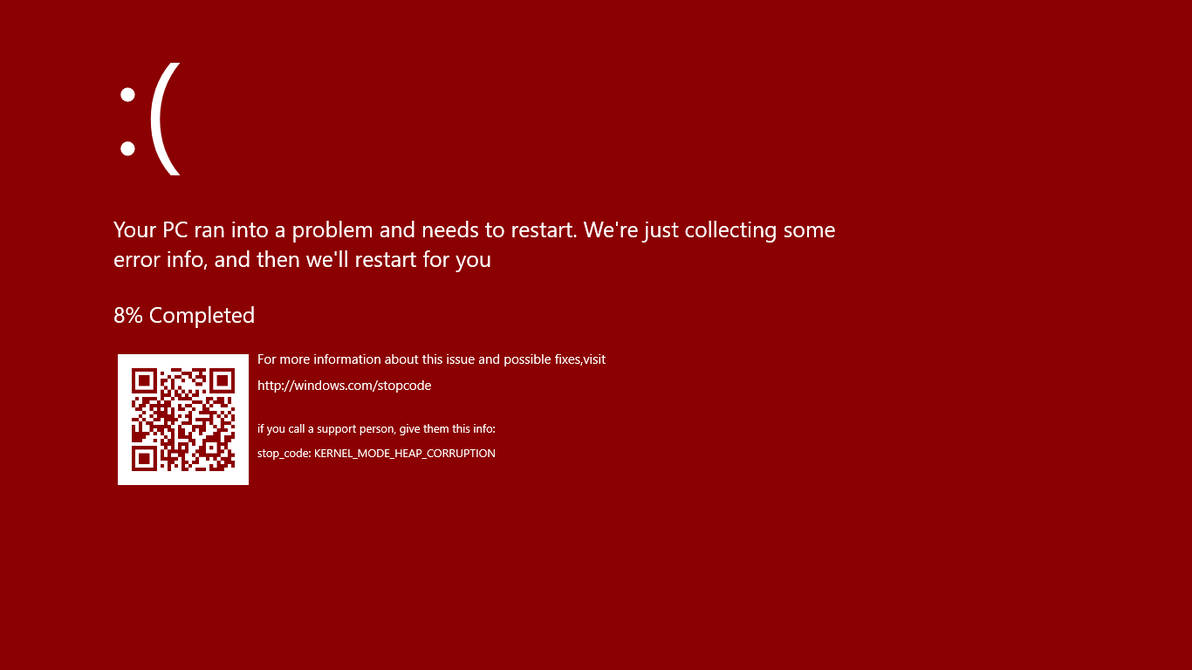 How to fix the red screen on windows 10