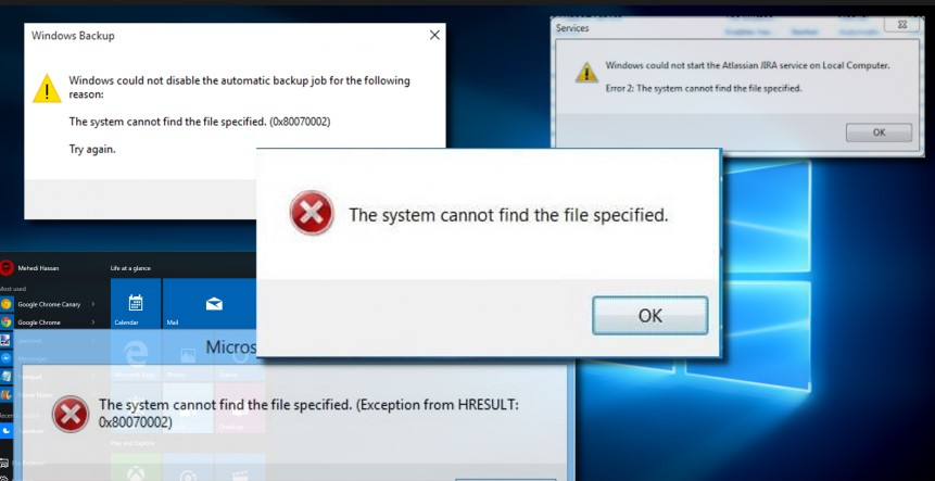 The System Cannot Find The File Specified Error Solved