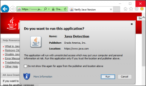 Turning on Java in your browser