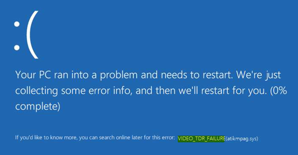 Error VIDEO_TDR_FAILURE Windows 10 – How To Solve It