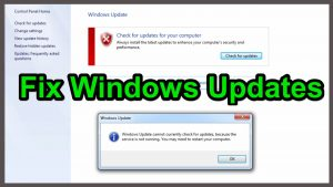 Windows Update Service Not Running, Solution