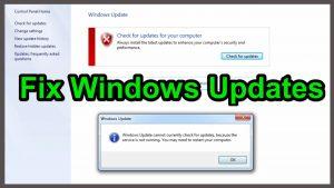 Windows Update Service Not Running, Solution