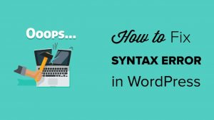 WordPress Syntax Errors