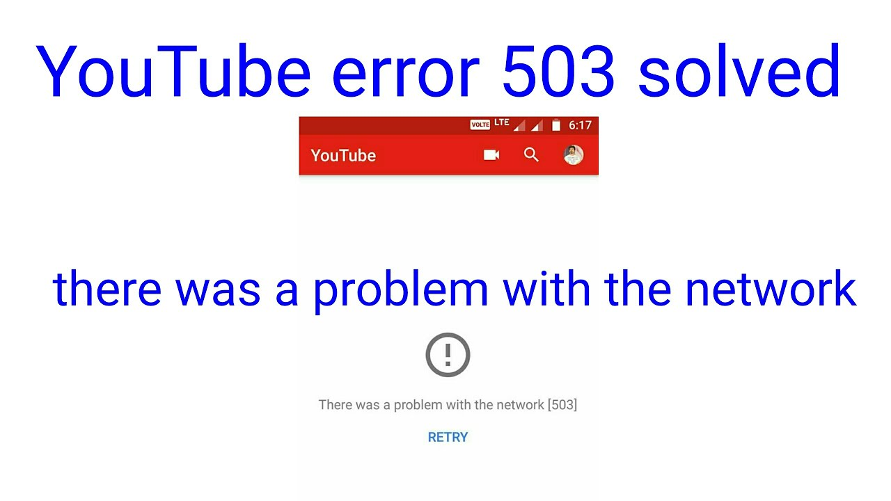 Youtube error 503