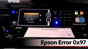 error 0x97 epson