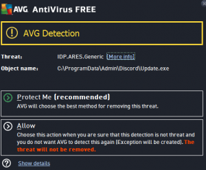 IDP.Generic Virus Warning