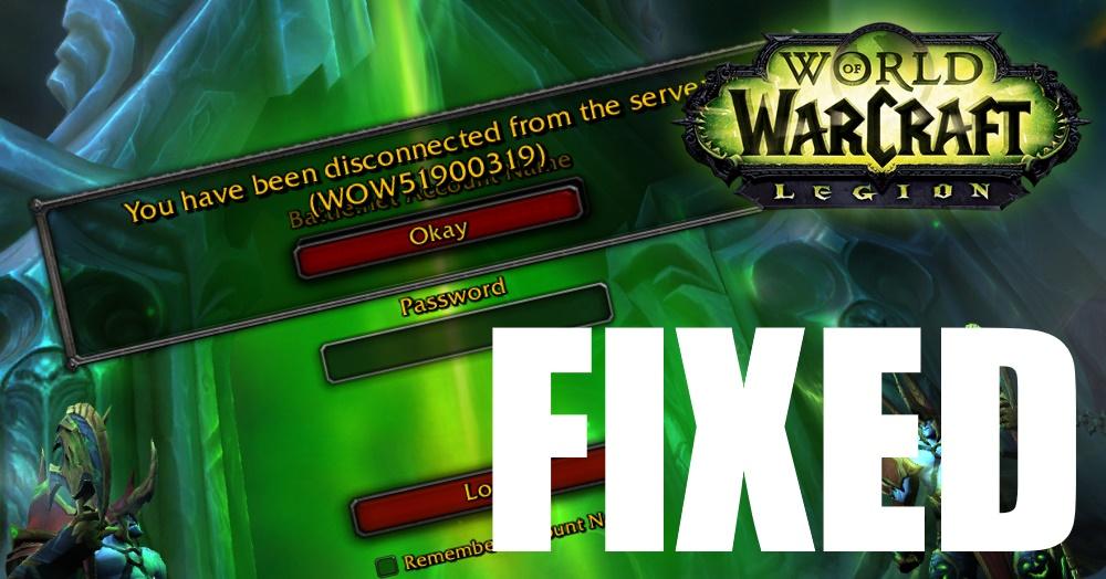 WOW51900319 error