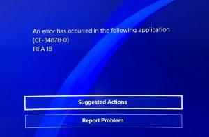 CE-34878-0 Error