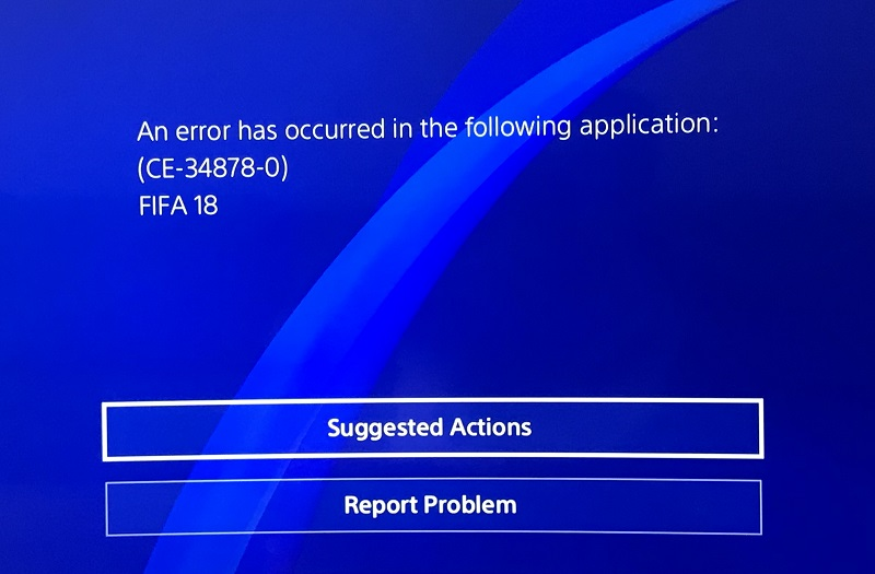 CE-34878-0 Error on PlayStation 4 – The Causes & Solutions