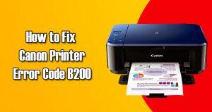 b200 Canon printer error