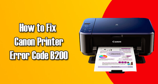 b200 Canon printer error