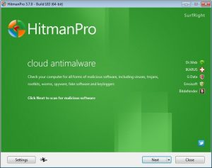 Scan your computer with HitmanPro
